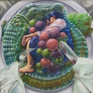 美術部 平成29年全国総文祭宮城大会参加作品1 本日の神饌~君のイノチを添えて~