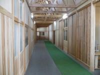 木造校舎廊下